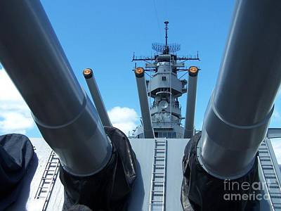 Usa Strength Uss Missouri Art Print