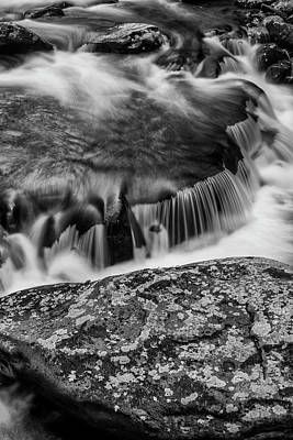 Little River Photograph - Usa, Tennessee Black And White Image by Judith Zimmerman