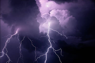 Lightning Photograph - Usa, Tennessee Composite by Jaynes Gallery