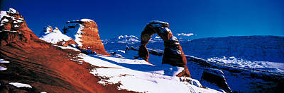 Snow-covered Landscape Photograph - Usa, Utah, Delicate Arch, Winter by Panoramic Images