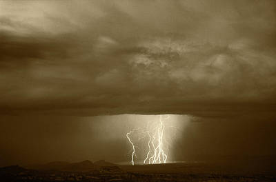 Cathedral Valley Photograph - Usa, Utah, Thunderstorm Over Cathedral by Scott T. Smith
