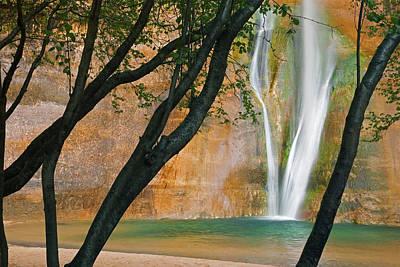 Usa; Utah View Of Calf Creek Falls Art Print
