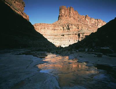 Usa, Utah, View Of Mountain At Glen Art Print