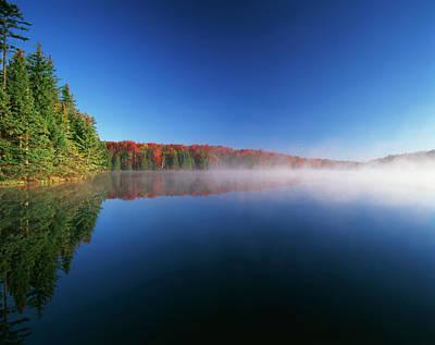Adam Photograph - Usa, Vermont, Adams Reservoir, Woodford by Adam Jones