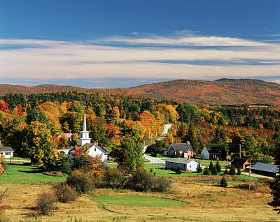 Usa, Vermont, Northeast Kingdom, View Art Print by Walter Bibikow