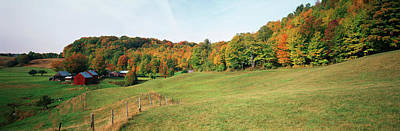 Human Landscape Photograph - Usa, Vermont, Reading, Jenne Farm by Walter Bibikow