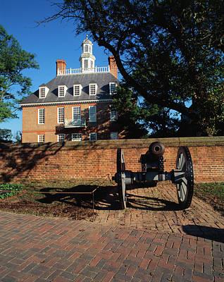 Williamsburg Photograph - Usa, Virginia, Williamsburg, Cannon by Walter Bibikow