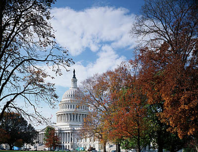 Usa, Washington Dc, View Of Capitol Art Print