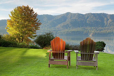 Empty Chairs Photograph - Usa, Washington, Quinault by Jaynes Gallery
