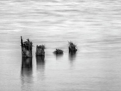 Cape Disappointment Photograph - Usa, Washington State, Old Pilings by Ann Collins