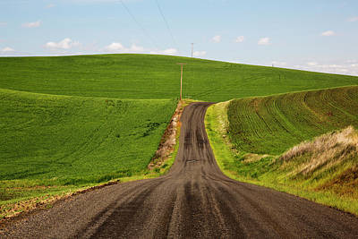 Farm Scene Photograph - Usa, Washington State, Palouse, Back by Terry Eggers