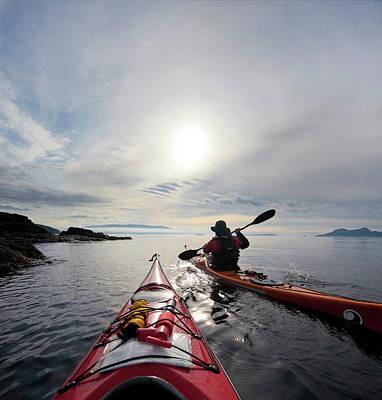 Kayak Photograph - Usa, Washington State, San Juan Islands by Gary Luhm