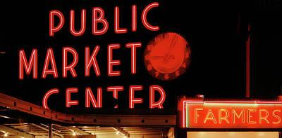 Usa, Washington State, Seattle, Pike Art Print by Paul Souders