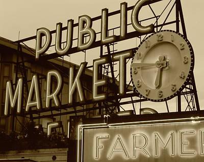 Usa, Washington State, Seattle, View Art Print by Walter Bibikow