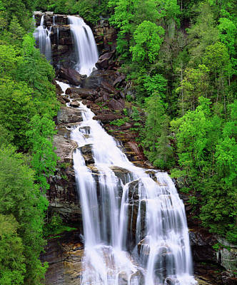 Usa, Whitewater Falls In South Carolina Art Print by Jaynes Gallery