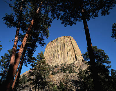 Usa, Wyoming, Hulett, Devil's Tower Art Print by Walter Bibikow