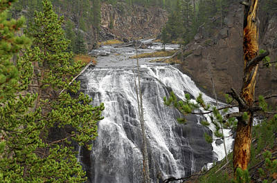 National Park Service Photograph - Usa, Wyoming, Waterfall, Yellowstone by Gerry Reynolds