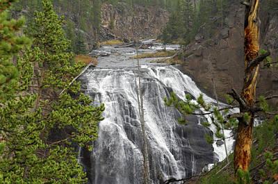 Usa, Wyoming, Waterfall, Yellowstone Print by Gerry Reynolds
