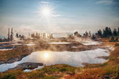 Photograph - Usa, Wyoming, Yellowstone National by Bryan Mullennix
