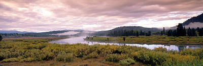 Riverbed Photograph - Usa, Wyoming, Yellowstone Park, Snake by Panoramic Images