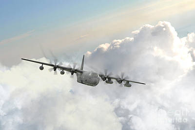 Usaf C130 Print by J Biggadike