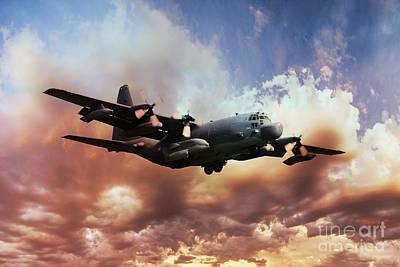 C-130 Wall Art - Digital Art - Usaf Hercules by J Biggadike