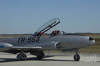 Photograph - Usaf Lockheed T-33 'tr-953' Taxi by D Wallace