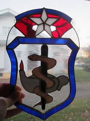 Glass Art - Usaf Nurse Corp by Karin Thue