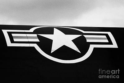 Usaf Star And Bars Insignia On A A12 Blackbird At The Intrepid Sea Air Space Museum  Art Print by Joe Fox
