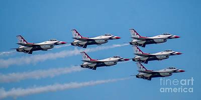 Photograph - U.s.a.f. Thunderbirds by Nick Zelinsky