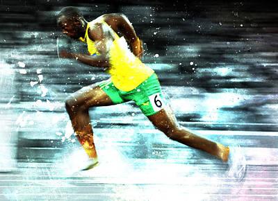 Usain Bolt Digital Art - Usain Bolt by Brian Reaves