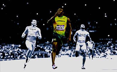 Usain Bolt Digital Art - Usain Bolt Sweet Victory by Brian Reaves