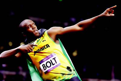 Usain Bolt Digital Art - Usain Bolt Sweet Victory II by Brian Reaves