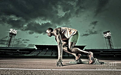 Usain Bolt Track And Field Art Print