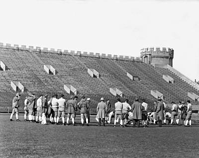 Amateur Photograph - Usc At Stagg Field Practice by Underwood Archives