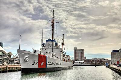 Baltimore Inner Harbor Photograph - Uscg Cutter Taney by JC Findley