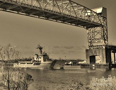 Photograph - Uscg Diligence In Sepia by Bob Sample