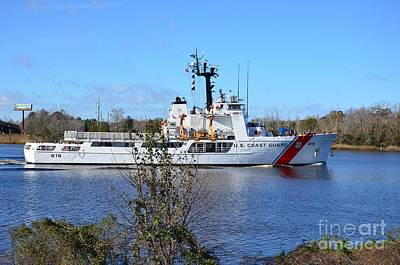 Photograph - Uscg Diligence On The Cape Fear River by Bob Sample