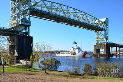 Photograph - Uscg Diligence Passing Under by Bob Sample
