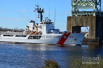 Photograph - Uscg Diligence Under Draw Bridge by Bob Sample