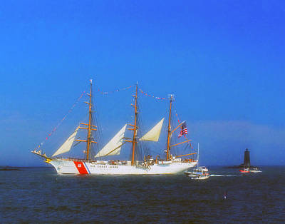 Photograph - Uscg Eagle 001 by Jeff Stallard