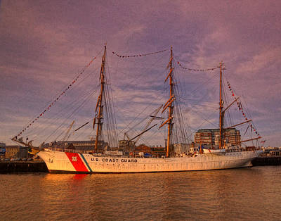 Photograph - Uscg Eagle 002 by Jeff Stallard