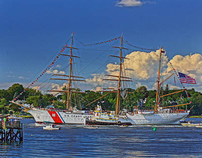 Photograph - Uscg Eagle 004 by Jeff Stallard