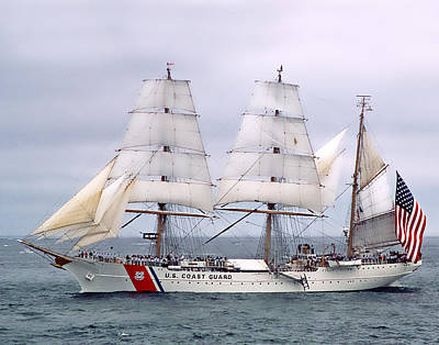 Photograph - Uscg Eagle 005 by Jeff Stallard