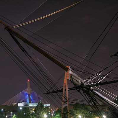 Photograph - Uscg Eagle Cutter And The Zakim Bridge - Boston by Joann Vitali