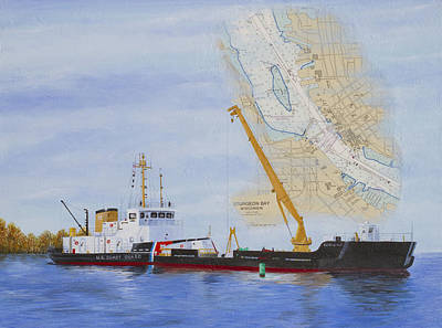 Chart Mixed Media - Uscgc Mobile Bay  by Bethany Kirwen