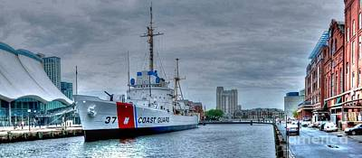 Inner Harbor Photograph - Uscgc Taney by Mike Baltzgar