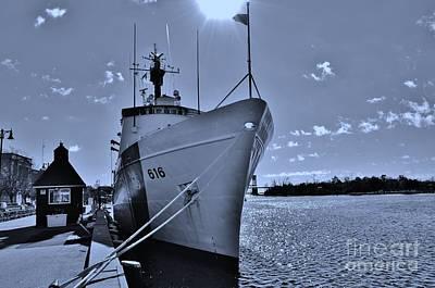 Photograph - U S Coast Guard 616 In Cyan by Bob Sample