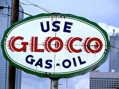 Photograph - Use Gloco Gas Sign  by Charlie Brock