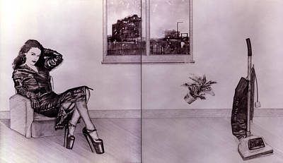 High Heels Art Drawing - Useful Household Objects #1 The Vacuum Cleaner. by Richard Pike